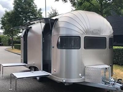 Caravan retro Aluminium Airstream stijl