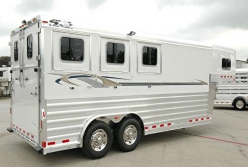 Remorque à cheval Américaine Fifth Wheel - Horse trailer