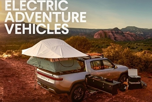 Rivian R1t Elecktriska pick up EV .
